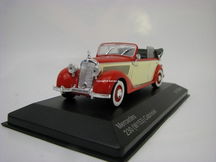 Mercedes Benz 230 W153 Convertible 1939 red/beige 1:43 White Box